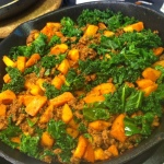chorizo w kale sweet potato