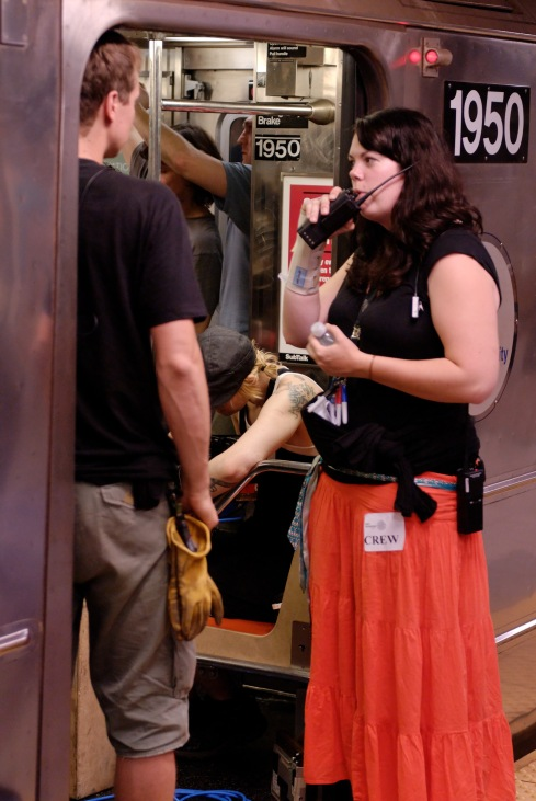 Working hard with a sprained wrist and trying to stay cool during an overnight in the subway in the middle of summer circa 2009